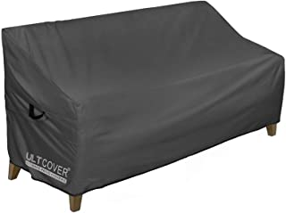 ULTCOVER Waterproof Outdoor Sofa Cover - Durable Patio Bench Covers 86W x 30D x 35H inch, Black