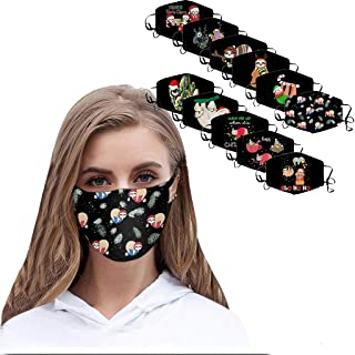 Padaleks 11PCS Adjustable Breathable Fashion Madk for Unisex Adult Kids Funny Pattern FaceMadks Reusable Washable