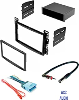 ASC Stereo Dash Kit, Wire Harness, and Antenna Adapter for some Chevrolet: 2005-2006 Cobalt, 2005-2006 Equinox, 2004-2007 Malibu / Maxx (no Classic model); Pontiac: 2005-2008 G6, 2006 Torrent