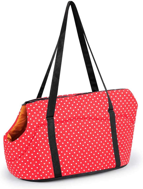 Pet Backpack Shoulder Strap Tote Crossbody Portable Aponge Small Do Bag Belt for Outdoor Travel Walking Subway,b,S