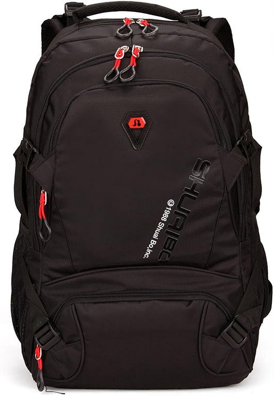 Hiking Bag Waterproof and Tearproof Mountaineering Bag Multi-Function Travel Hiking Camping Backpack Large Capacity Mountaineering Bag (color   Black)