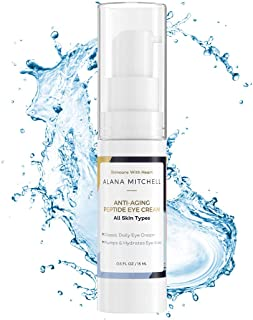 Anti Aging Eye Cream For Dark Circles and Under Eye Bags By Alana Mitchell Skin Care The Best Natural Firming Peptide Eye Cream For Wrinkles, Puffiness - Use Daily As Moisturizer For Eyes and Face