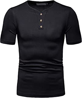 Xswsy XG Mens Patchwork Long Sleeve T-Shirt Stitching Casual Round Neck Tops