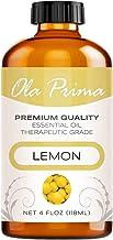 Ola Prima 4oz - Premium Quality Lemon Essential Oil (4 Ounce Bottle) Therapeutic Grade Lemon Oil