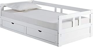 Alaterre Furniture Melody Extendable Bed Daybed, White