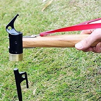 ZENING Marteau en acier et cuivre pour tente de camping - Maillet en caoutchouc - Marteau multifonction pour l'alpinisme, le camping, la randonnée, la maison, le bureau