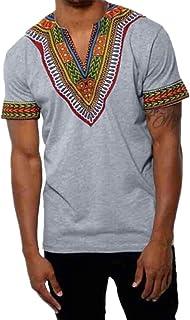 ba08a1671e9 Yvelands Makerda Printed Printed T-Shirt Personalidad de los Hombres  Personalidad Moda V-Cuello
