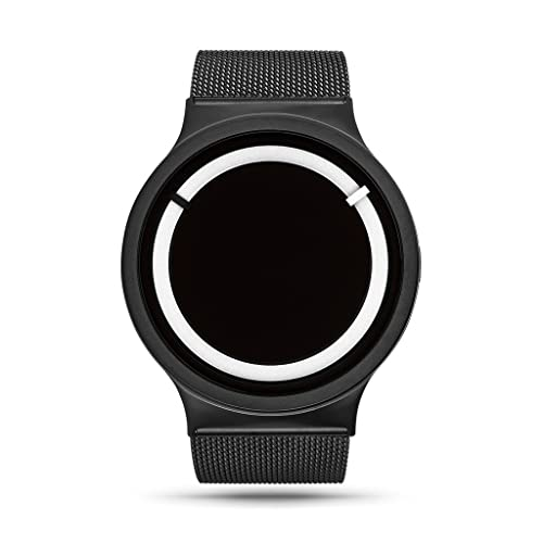 ZIIIRO Eclipse Steel Unisex Watches Black Snow