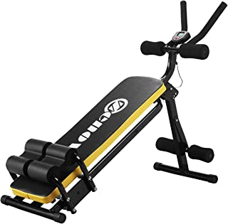 ZENOVA Abdominal Trainers, AB Workout Equipment for Women, Gym Waist Trainer w/LCD Display 3 Levels Resistance