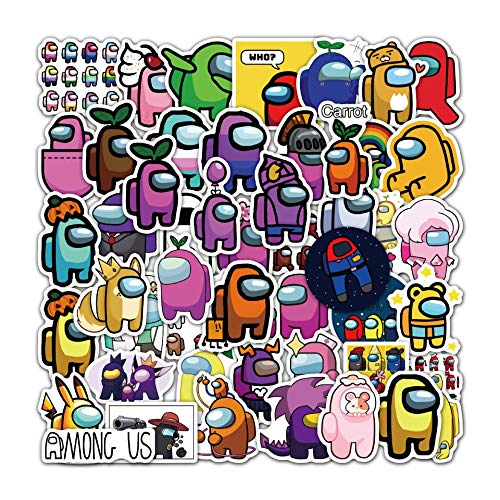 Among US (50 Pcs) Vinyl Stickers Decals for Laptop Water Bottles Bike Skateboard Luggage Computer Hydro Flask Toy Phone Snowboard. DIY Decoration as Gifts for Kids Girls Teen (50-7)