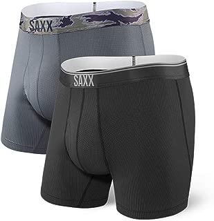 Saxx Underwear Men's Boxer Briefs – Quest Men's Underwear – with Built-in Ballpark Pouch Support – Boxer Briefs, Pack of 2