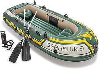 HUANGYUZHENZHI نفخ كاياك قارب المياه الرياضة البحر النسر ثلاثة رجل المطاط طوف نفخ سميكة الصيد قارب