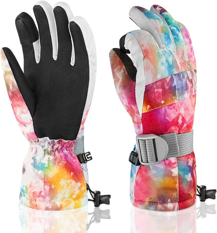 accsa Women Winter Ski Gloves 3M Thinsulate Waterproof /& Windproof Snow Gloves for Skiing Anti-Slip Gloves