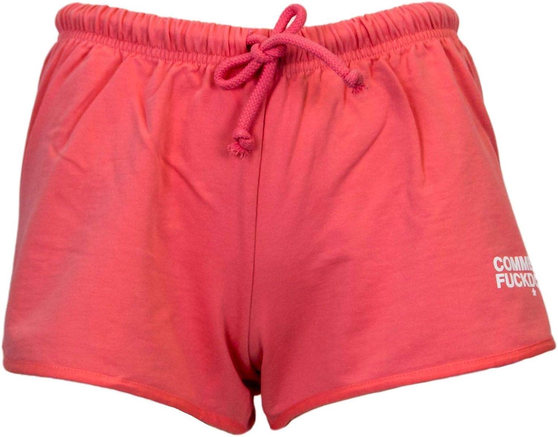 Comme Des Fuckdown Women's CDFD123PINK Pink Cotton Shorts