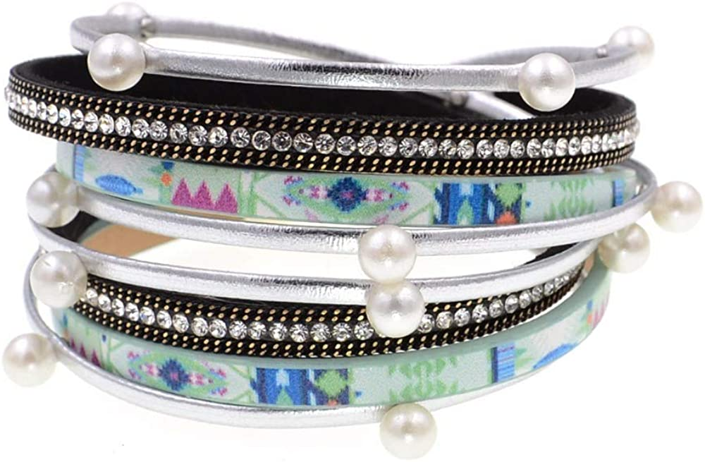 New Stlye Beads Leather Bracelets Mail order Laps Wrap Two Spring new work Wo For
