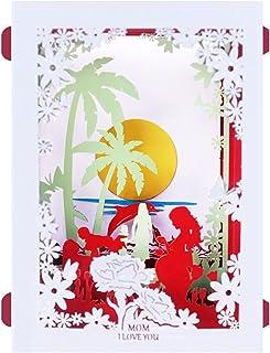Holiday card مهرجان نعمة بطاقات المعايدة 3D اليدوية تظهر الحب أمي والأطفال ورقة نحت عرض بطاقات المعايدة بطاقة بريدية عيد ا...