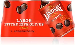 Lindsay Naturals California Black Ripe Pitted Olives: 6 Cans of 6 Oz - Cos7