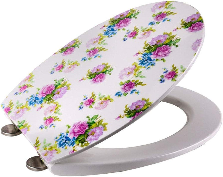 KTYXDE Ultradünner, applizierter O-frmiger Toilettensitz dmpft antibakteriell einstellbaren, Oben angebrachten Toilettensitz Toilettendeckel