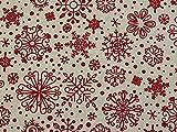 Minerva Crafts Baumwoll-Leinenstoff, Meterware, Rot