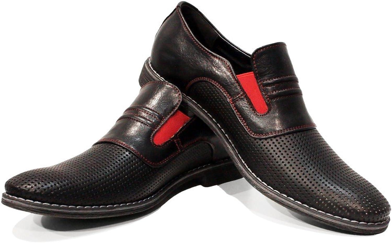 Peppeskor Modello Fera Handgjort Italienskt läder läder läder Mens Färg svart Mockasines Loafers Cowhide Embrossed Leather Slip -On  ny stil