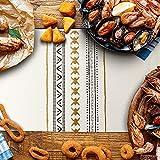 Sxuan Tischläufer 180x35cm, Waschbar Tischdekoration aus Baumwollgewebe mit Quasten für Esszimmer Outdoor Urlaub Party Dekoration, Beige - 4