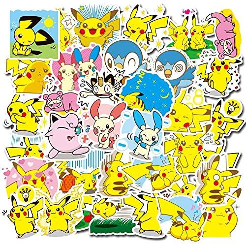 MBGM 80pcs Poke Anime adesivi mon Impermeabile Del Telefono Tazza Acqua Casco Decorazione Piccolo Modello Notebook Doodle Sticker