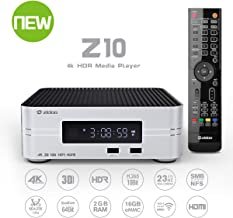 Zidoo Android TV Box Z10 4K Smart TV Box Android 7.1 NAS 2G DDR 16G eMMC Television Set Top Box 10Bit HDR Dual-WiFi 2.4G/5.0G,3D Ultra HD H.265 USB 3.0 BT 4.0