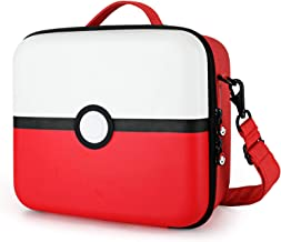 Tombert Nintendo Switch Travel Carrying Case, Pokemon design, Deluxe Protective Hard Shell Carry Bag Fits Pro Controller for Nintendo Switch Console & Accessories