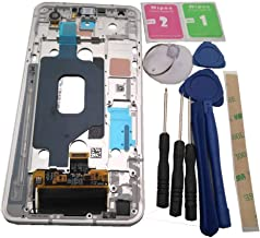 Azqqlbw for LG Stylo 5 Q720 LM-Q720CS Q720QM6 Q720MS Q720TSW Q720QM LCD Display+ Touch Screen Digitizer Assembly Repair Parts+Tools (Display with Silver Frame) with Side Buttons