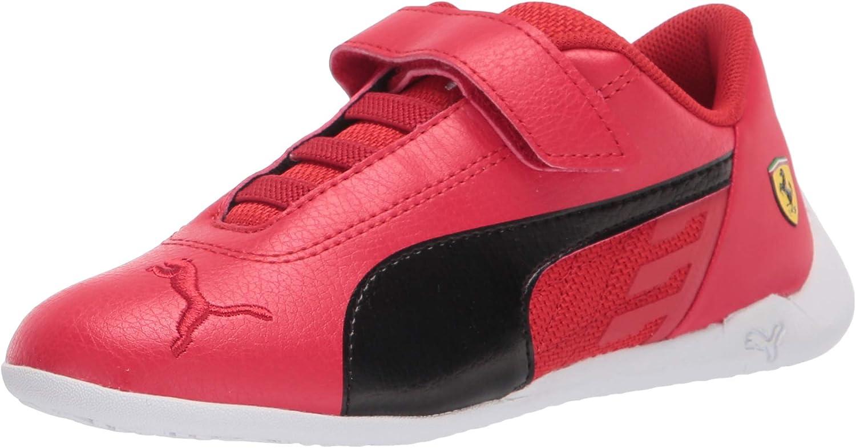 PUMA Unisex-Child Ferrari Race R-cat Hook and Loop Sneaker