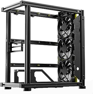 ATX/M-ATX/ITX/MATX Datorfodral, DIY Set Aluminium Friluftsram Chassis Rack 2 GPU, Metal Frame Heat Dissipation Case Overcl...