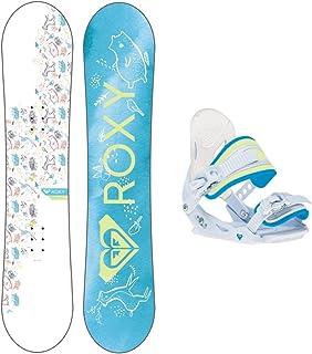 Roxy Poppy Snowboard w/Poppy Traditional Bindings Girls