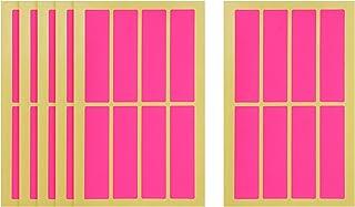 Apple Rectangle Stickers, 6 Sheets, 75x20 mm - Fuchsia