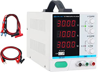 DC Power Supply Variable 4 Digital LCD Display Adjustable Regulated Switching Power Supply Digital with Leads Power Cord(3...