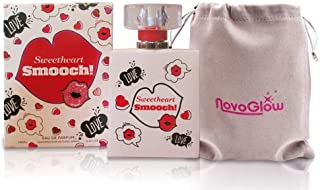 Sweetheart Smooch - Eau De Parfum Spray Perfume, Fragrance for Women-Daywear, Casual Daily Cologne Set with Deluxe Suede Pouch- 3.4 Oz Bottle - Ideal EDT Beauty Gift for Birthday, Anniversary