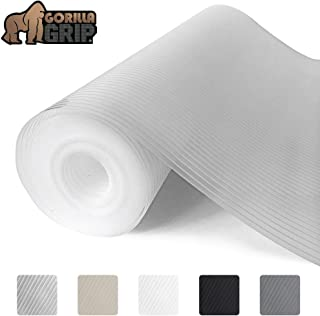 Gorilla Grip Ribbed Top Drawer and Shelf Liner, Non Adhesive Roll, 17.5 Inch x 20 FT,..