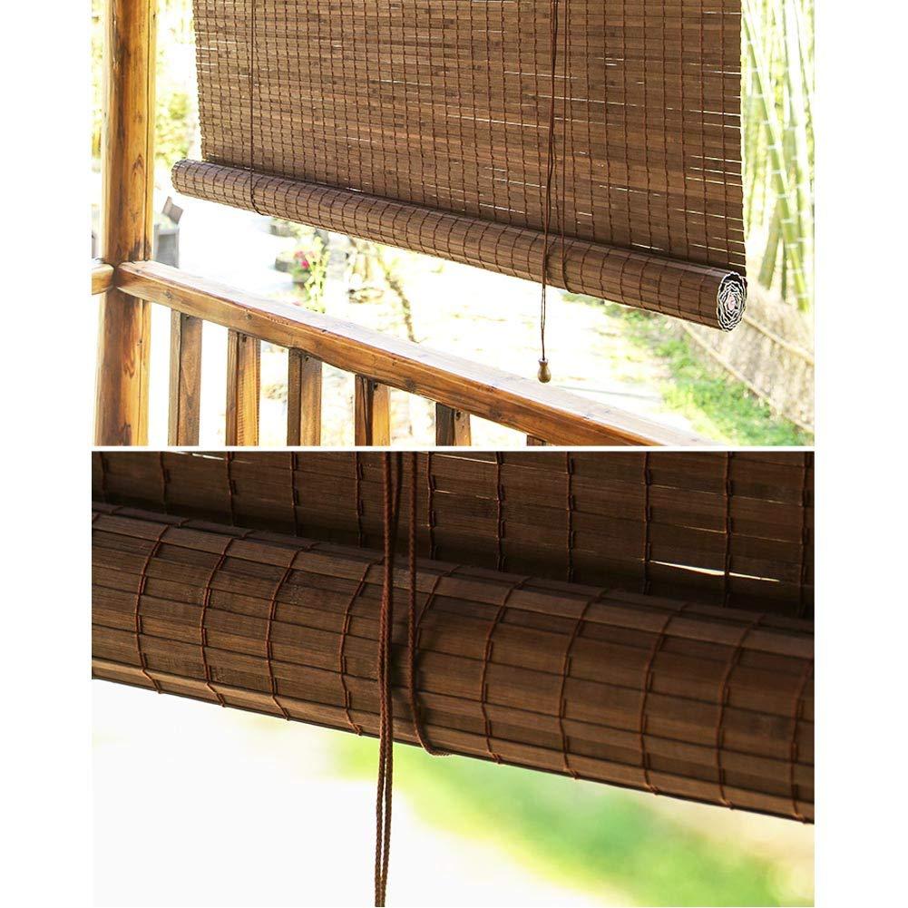 Estor exterior de bambú de lyjml para ventanas, persianas de bambú con volante, para balcón, terraza, persianas prémium para interior o patio, pérgola para garaje, protección solar, varios tamaños, 60*120cm: Amazon.es: Hogar