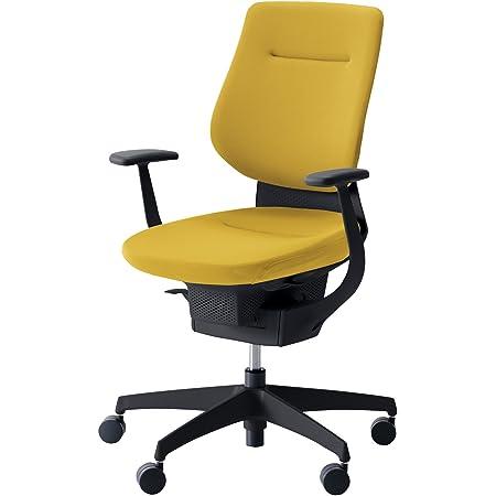 コクヨ イング イス オリーブイエロー クッションタイプ デスクチェア 事務椅子 座面が360°動く椅子 CR-G3203E6G41S-VN 【ラクラク納品サービス】