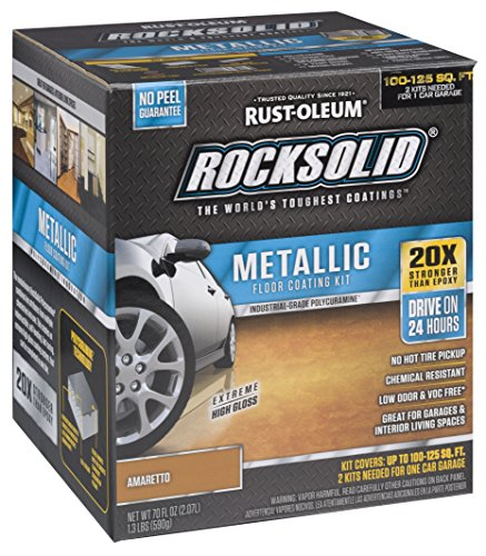 Rust-Oleum 286895 Rock Solid Garage Floor Coating Kit, Earth Brown, 70 Fl. Oz