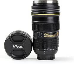 MUG Bouteille Isotherme Type Objectif Nikon 24 70 Tasse Pot à Crayon Appareil Photo - ADAPTOUT Marque FRANÇAISE