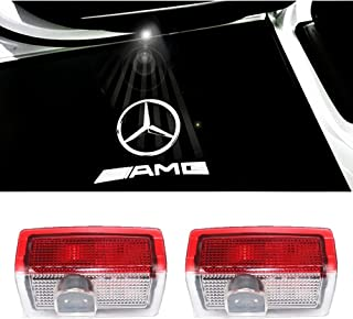 Color Name : Black 2PC Marchio dellautomobile 3D Corsa Metallo Autoadesivo Auto del Distintivo dellemblema della Decalcomania for AMG W204 W203 W212 W211 W124 W210 Accessori Auto