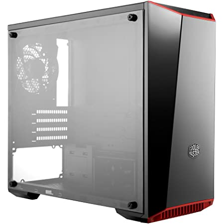 Cooler Master MasterBox Lite 3.1 Micro-ATX Tower with Front Dark Mirror Panel, 3 Customize Color Trims & Transparent Acrylic Side Panel (MCW-L3B3-KANN-01)