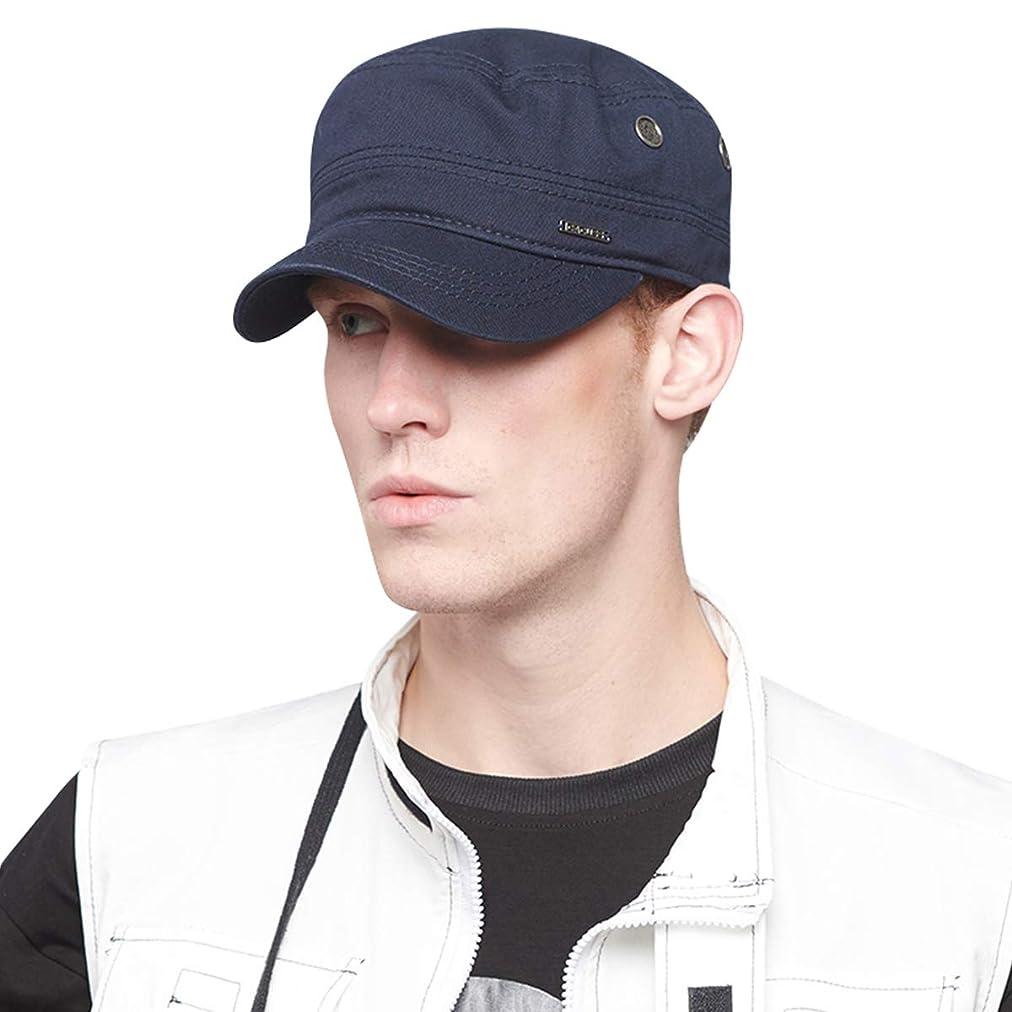 ベックス反対したあいまいなCACUSS ワークキャップ キャップ メンズ レディース ミリタリーキャップ 綿100% 帽子 おしゃれ ぼうし 無地 男女兼用 大きいサイズ 調節可能 春 夏 黒