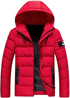 Men's Latest Winter/Water Wind-Resistant Outwear Coat with Hoodie, Lightweight Packable Puffer Down Jacket M-4XL