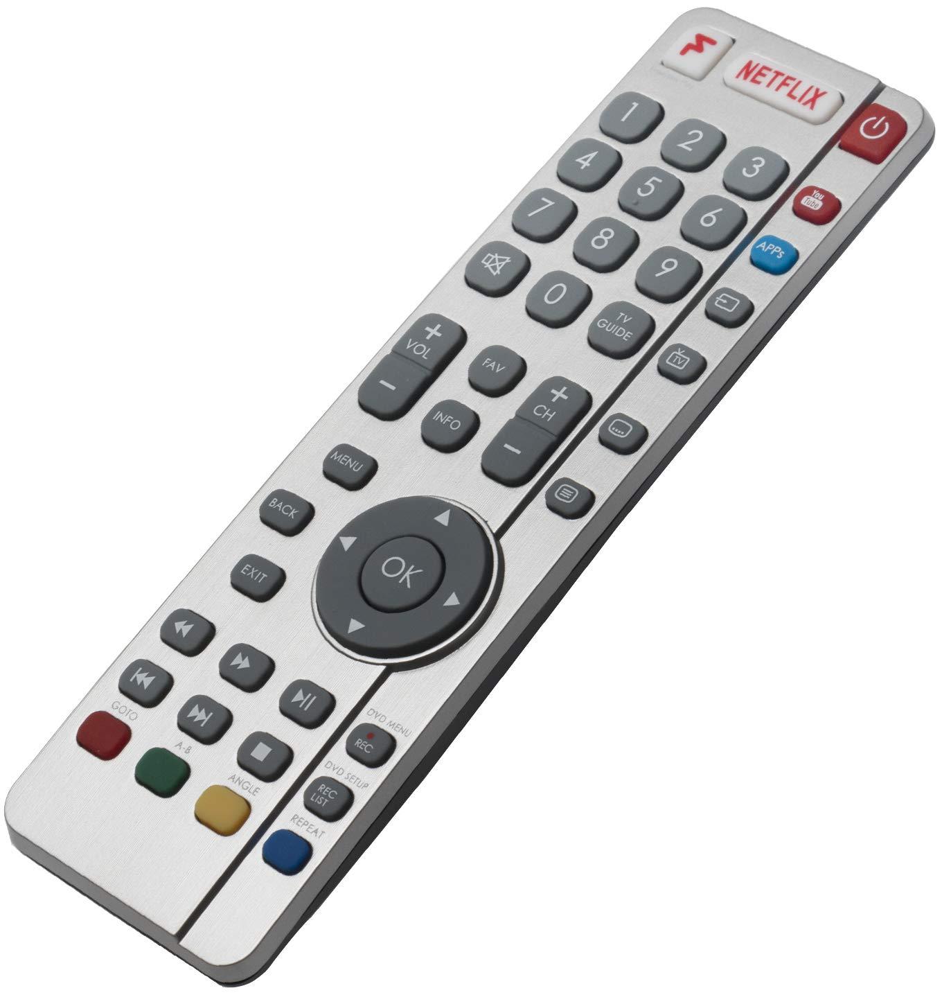 ALLIMITY SHW/RMC/0122 RF Mando a Distancia reemplazado por Sharp Aquos 4K UHD TV with Netflix LC-32DHG6021KF LC-40CFG6021KF LC-40CFG6022KF LC-40CFG6241KF LC-40CFG6242KF LC-43CFG6021KF: Amazon.es: Electrónica