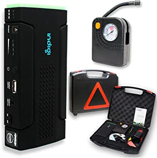 Indigi Powerful Car Jump Starter Mobile Charger Power Bank Emergency Battery Booster Tire Compressor Air Pump