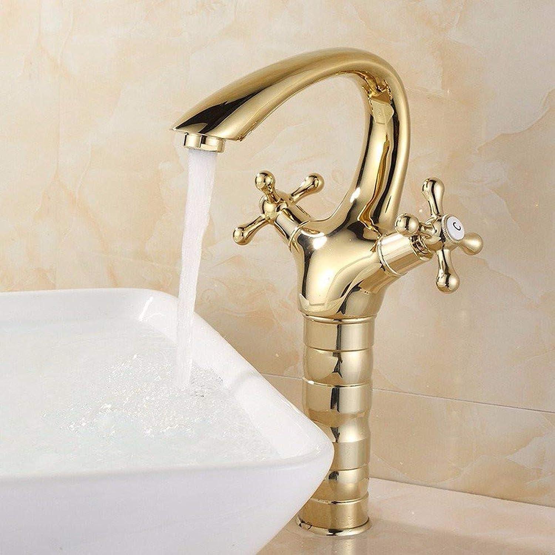 360° redating Faucet Retro Faucetcold Basin Faucet golden Basin Faucet Antique gold-Plated Retro Faucet