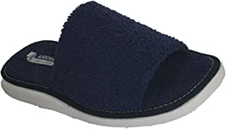 Chancla toalla de puntera abierta toalla Andinas en azul marino