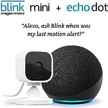 Echo Dot (4th Gen, 2020 release), Charcoal + Blink Mini Camera