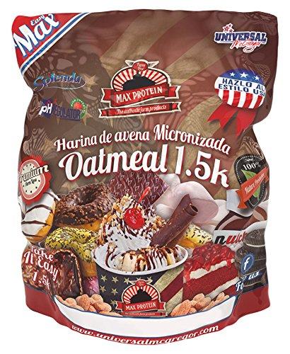 Max Protein Oatmeal Sac Harina de Avena, Termo-Activada - 1500 gr